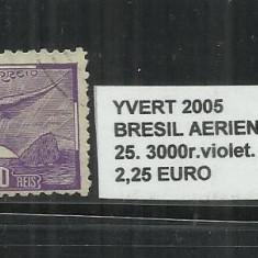 BRAZILIA AERIENS 1930-39 - 25. 3000 R, Nestampilat
