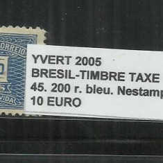 BRAZILIA - TIMBRES TAXE 1919 - 40 - 45, 200 R., Nestampilat