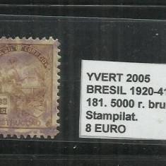 BRAZILIA - 1920 - 41 - 181. 5000 R., Stampilat