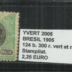BRAZILIA - 1905 - 124 B. 300 R, Stampilat