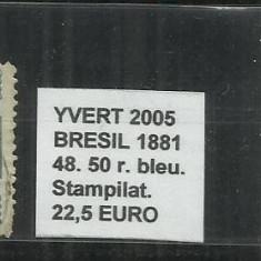 BRAZILIA - 1881 - 48.50R, Stampilat