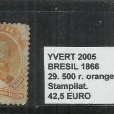 BRAZILIA - 1866 - 29. 500 R, Stampilat