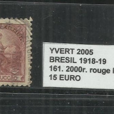 BRAZILIA - 1918 -19 - 161. 2000 R., Stampilat