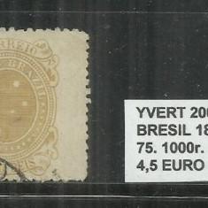 BRAZILIA - 1889- 93 - 75. 1000 R, Stampilat