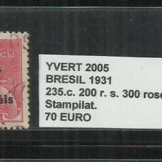 BRAZILIA - 1931 - 235C . 200 R. S.300., Stampilat