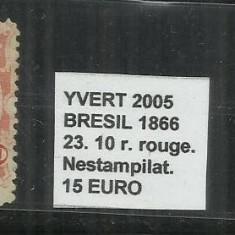 BRAZILIA - 1866 - 23.10R, Nestampilat