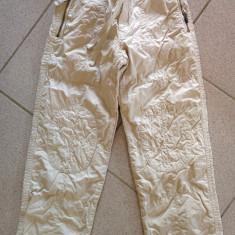 Pantaloni pentru copii, unisex, 6-8 ani, Microbe, ideali pentru vreme rece, Marime: 30, Culoare: Crem