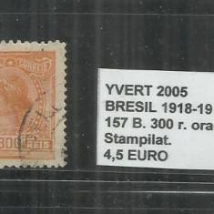 BRAZILIA - 1918 -19 - 157 B . 300R., Stampilat