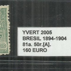 BRAZILIA - 1894 - 1904 - 81. 50 R.[A], Nestampilat