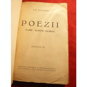 Gh.Bacovia - Poezii : Plumb , Scantei , Galbene - Ed. Ancora IIIa interbelica