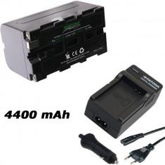 PATONA Premium | Incarcator + Acumulator pt Sony NP-F750 NP F750 NPF750 4400mA - Baterie Camera Video