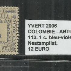 COLUMBIA - ANTIOQUIA 1901 - 113, 1 C., Nestampilat