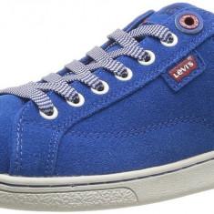 40, 41_Adidasi originali barbati LEVIS_in cutie_din piele_albastru - Adidasi barbati Levi S, Piele naturala
