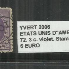 SUA 1890 - 93 - 72 . 3 C., Stampilat