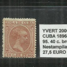 CUBA 1896 - 97 - 95. 40 C., Nestampilat