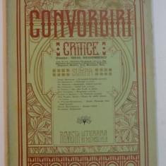 CONVORBIRI CRITICE , ANUL II , NR.9 , 1 MAIU 1908 (EDITIE LUX)