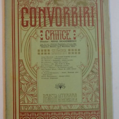 CONVORBIRI CRITICE, ANUL II, NR.9, 1 MAIU 1908 (EDITIE LUX)