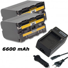 PATONA | Incarcator + 2 Acumulatori pt Sony NPF970 NP F970 DCR VX2100 HDR-FX1 - Baterie Camera Video
