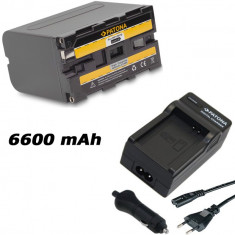 PATONA | Incarcator + Acumulator compatibil Sony NP-F970 NPF970 NP F970 F960 - Baterie Aparat foto