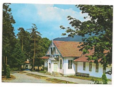 %carte postala(cod 928/74)-MURES-SANGEORZ BAI-Pavilionul de Fizioterapie foto