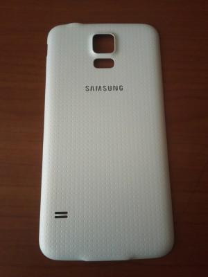 Capac baterie Samsung Galaxy S5 G900 G900F pentru spate / alb foto