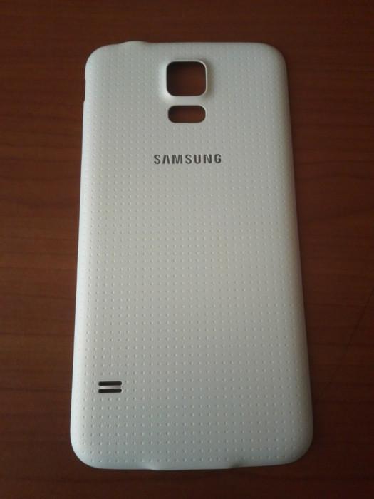 Capac baterie Samsung Galaxy S5 G900 G900F pentru spate / alb