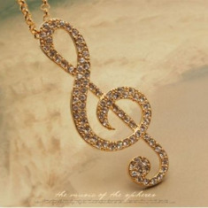 Pandantiv / Colier / Lantisor Fashion - Cheia Sol - Auriu