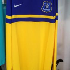 Tricou polyester maneca lunga Nike Everton - Bluza barbati Nike, Marime: XL, Culoare: Galben