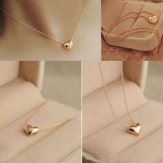 Pandantiv / Colier / Lantisor Fashion - Inima De Culoare Auriu - Pandantiv fashion