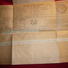 Telegrama Italiana trimisa de un roman in 1928 la Sinaia Castel Peles