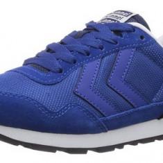 40,41,42,44_Adidasi sport originali HUMMEL_din piele naturala_albastru_in cutie, 44, Albastru, Piele naturala, Hummel
