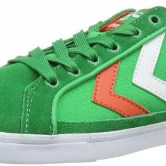 41_Adidasi sport originali barbati HUMMEL_cu piele naturala_panza_verde_cutie, 41, Verde, Piele naturala, Hummel