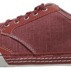 Adidasi originali barbati CLARKS-adidasi panza-tenisi barbati-in cutie-44.5, Culoare: Burgundy, Textil
