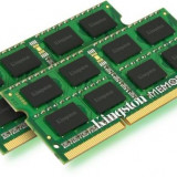 Kingston Memorie RAM, DDR3, SODIMM, 2 x 4 GB, 1333 MHz, CL9, Unbuffered