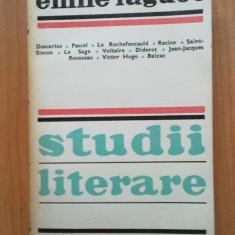 Wb Emile Faguet - Studii literare - Studiu literar