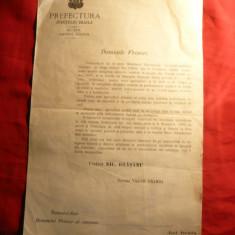 Adresa a Prefecturii catre Primar Judet Braila 1907 - anul marii rascoale - Hartie cu Antet