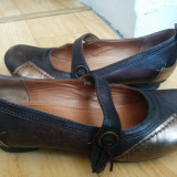 Pantofi din piele marimea 39, sunt noi! - Pantof dama, Culoare: Maro, Piele naturala, Cu talpa joasa