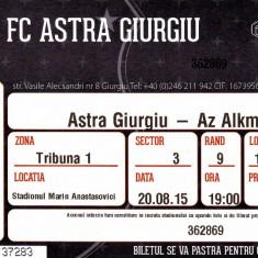 Bilet meci fotbal ASTRA GIURGIU - AZ ALKMAAR 20.08.2015 Europa League