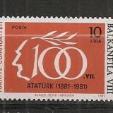 Turcia.1981 Expozitia filatelica BALKANFILA  ST.361, Nestampilat