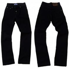 Blugi dama - talie inalta - negri - LOTUS jeans W 26 (Art.F21-F35), Lungi, Negru