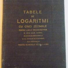 TABELE DE LOGARITMI CU CINCI ZECIMALE - Carte Matematica