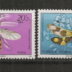 Turcia.1981 Fauna-Insecte ST.378 - Timbre straine, Nestampilat