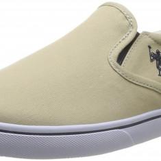 OFERTA-Adidasi originali US POLO ASSN-adidasi barbati-din panza-in cutie-40, Culoare: Crem, Textil