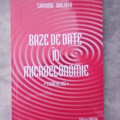 Baze de date in microeconomie - Studii de caz - Carte baze de date