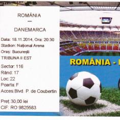 Bilet meci fotbal : ROMANIA - DANEMARCA 18.11.2014 (amical)