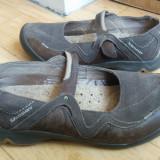Pantofi din piele firma SOLOMON marimea 39, arata impecabil! - Pantof dama, Culoare: Gri, Piele naturala, Cu talpa joasa