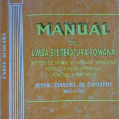 MANUAL DE LIMBA SI LITERATURA ROMANA PT EXAMENUL DE CAPACITATE - V. Barbulescu - Carte Teste Nationale