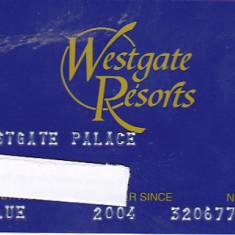 Pentru colectionari, card plastic membru Westgate Resorts, Orlando, Florida