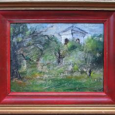 Casa in peisaj - semnat  L.Hayet, Peisaje, Ulei, Altul