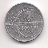 No(4) moneda- ROMANIA- 500 Lei 1999 Eclipsa, Aluminiu